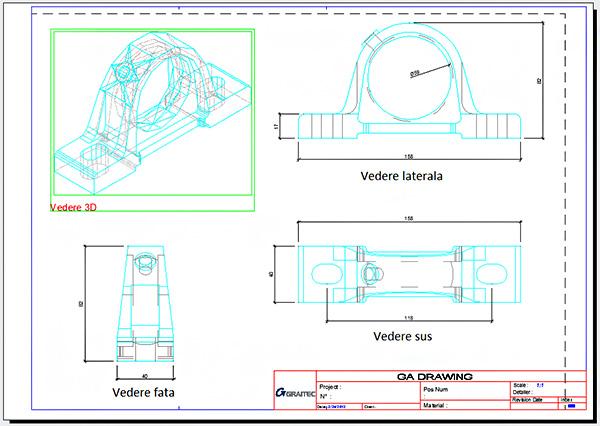Cum se creează o planşă de detaliu a unei piese speciale