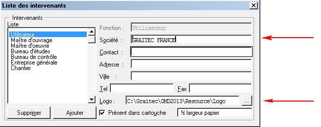 Comment insérer un logo dans le cartouche  des plans de ferraillage ?