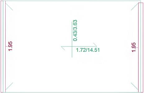 Que signifient les deux valeurs séparées par un slash dans le menu Affichage / Ferraillage ?