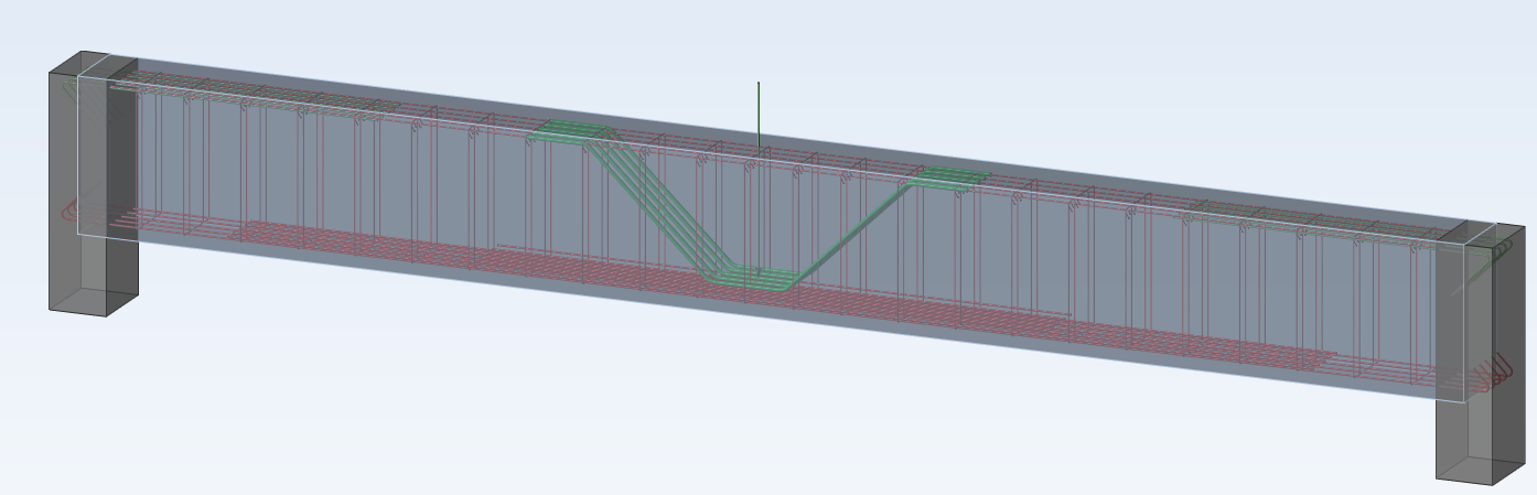 Shear reinforcement resulted from the calculation