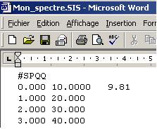 Comment créer et charger son propre spectre dans Effel