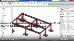 Recalculating rebar for beams with openings with Reinforced Concrete BIM Designers