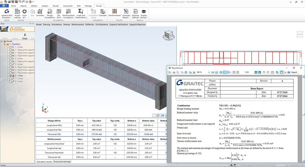 GRAITEC Advance Design - Reinforced Concrete Design