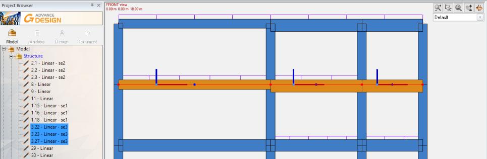 GRAITEC Advance Design 2022 - Transfer of super element to RC Beam module