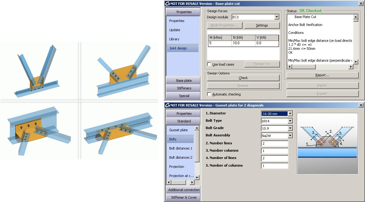 Steel connections designed according to Eurocodes 3 in Autodesk Advance Steel