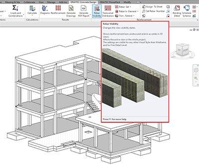 GRAITEC Advance BIM Designers | Rebar Visibility