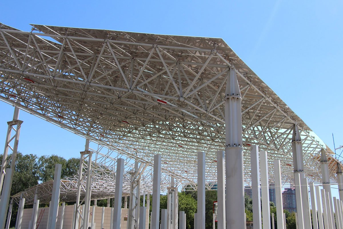 Facade Grid Structure For The Spartak Stadium Graitec