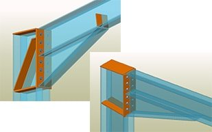 GRAITEC Autodesk Advance Steel | Example: Eurocodes 3 connection design for beam to column knee of frame bolted with haunch