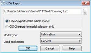 GRAITEC Autodesk Advance Steel | Exchange Formats Overview | CIS/2 Interface