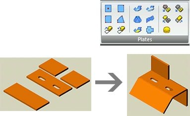 GRAITEC Autodesk Advance Steel | Sheet and plate metal work | Various shapes created in no time!