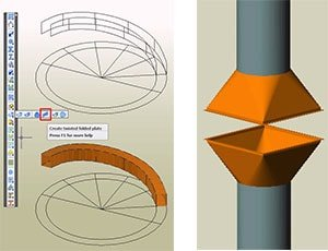 GRAITEC Autodesk Advance Steel | Sheet and plate metal work | Conical and twisted plates