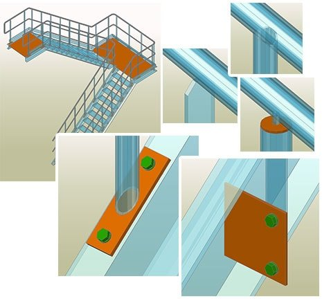 Stairs and Railings - Autodesk Advance Steel - Graitec