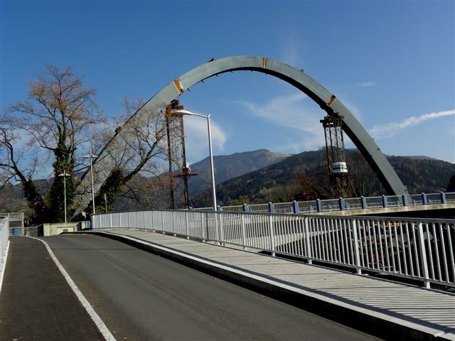 Bridge Hochalmbahn in Bruck at the Mur