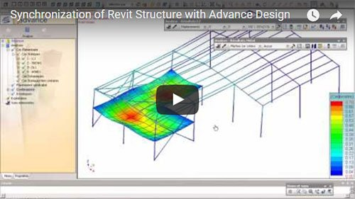 Synchronization of an Autodesk Revit Structure model with Advance Design