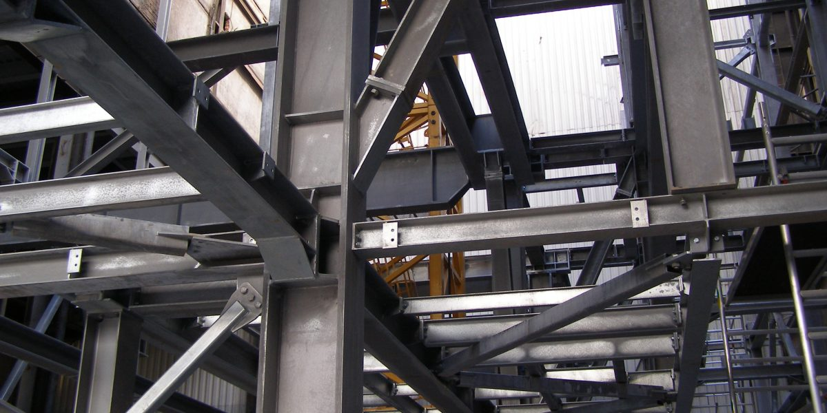 Steel structures for waste incinerator plant in Brno