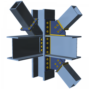 GRAITEC IDEA StatiCa | Connection | Industry hall