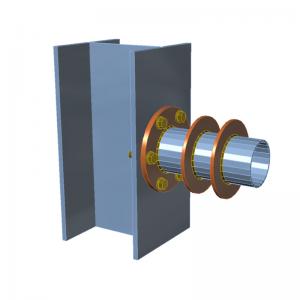 GRAITEC Advance Design | Connection | Circular end plate, stiffeners