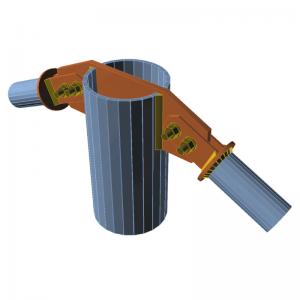 GRAITEC Advance Design | Connection | Connecting plates, notches