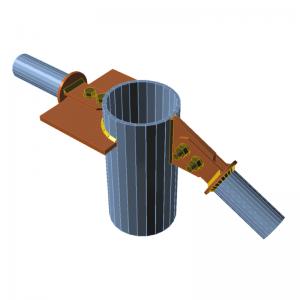 GRAITEC Advance Design | Connection | Connecting plates, cuts