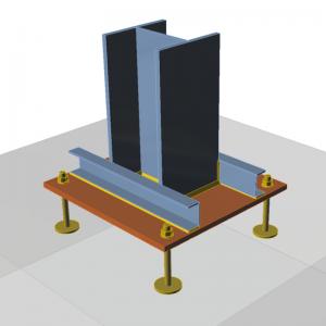 GRAITEC Advance Design | Connection | Base plate, stiffening members