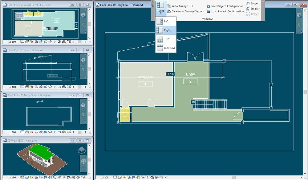 GRAITEC | PowerPack for Revit | Project Windows