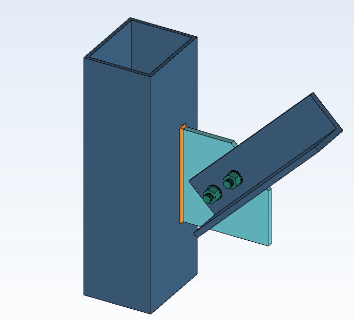 Gusset Connection - Joint profile section