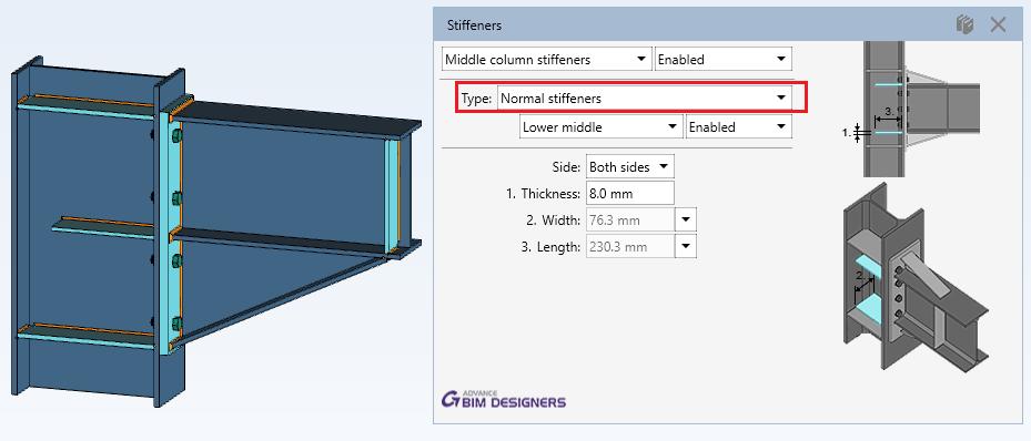 Steel Connection Designer - Moment End Plate - Graitec