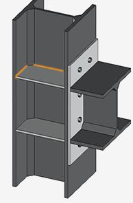 Upper column stiffener to column