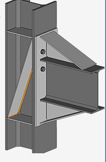 Sloped stiffener to column
