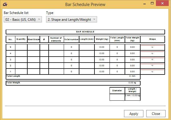 automatic bar schedules advance bim designers graitec
