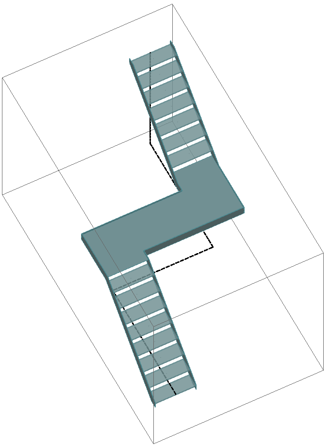 S – shaped stair with half landing