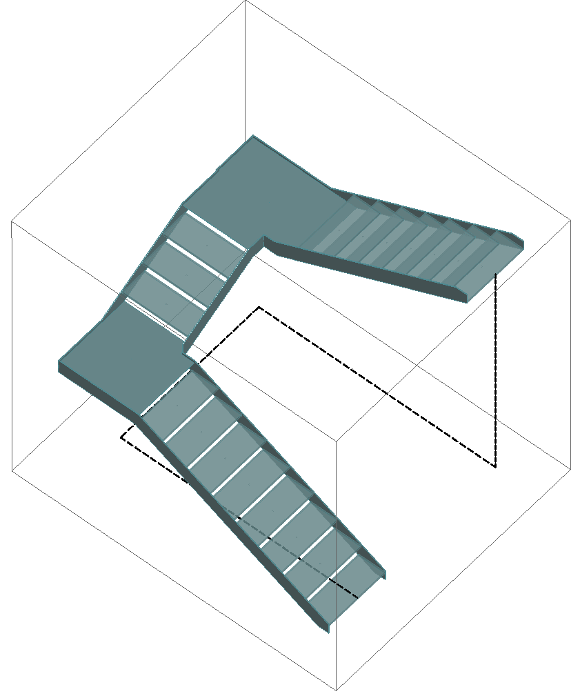 U - shaped stair (half turn stair)-min