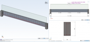 load value used in the initial design of the beam