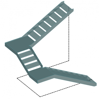 Closed stringer made from flat profiles or folded plates
