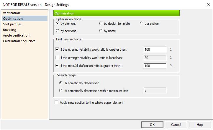 GRAITEC Advance Design Steel Member - Shape Optimisation