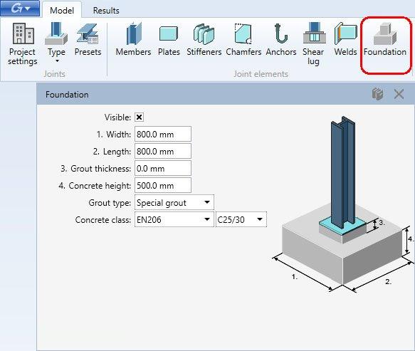 Steel Connection Designer - Foundation