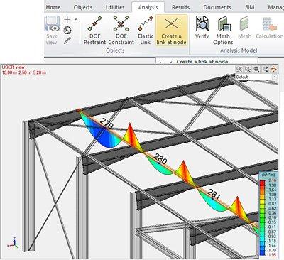 GRAITEC Advance Design 2022 - LINK ON NODE