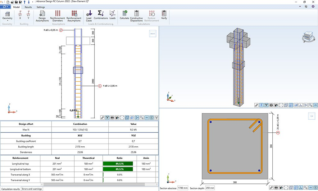 GRAITEC Advance Design Reinforced Concrete Column