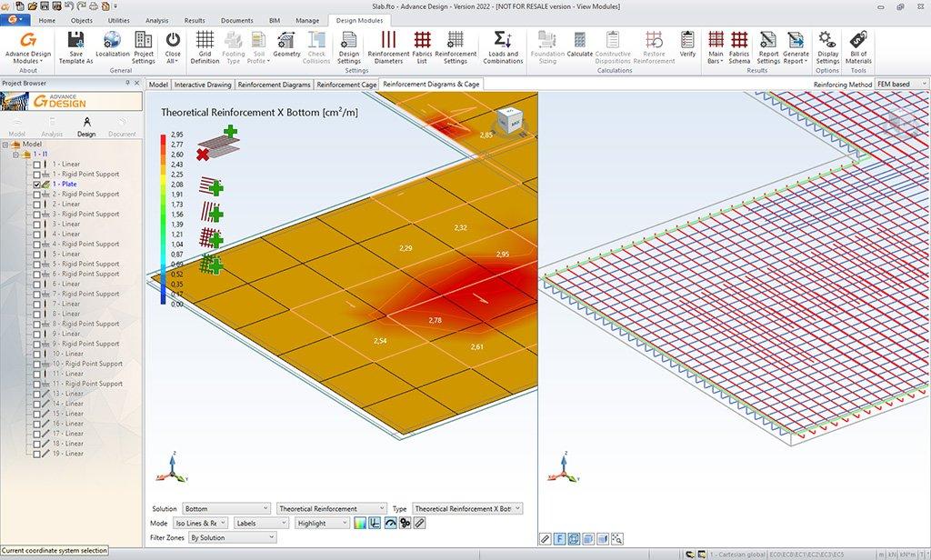 GRAITEC Advance Design Reinforced Concrete Slab