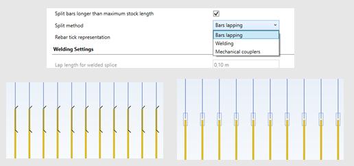 GRAITEC - Advance Design 2022.1 Release - Automatic rebar splitting on RC Slab module